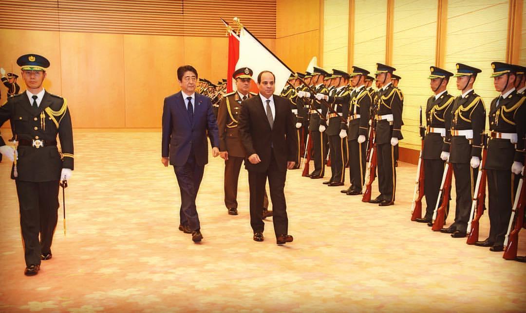 الرئيس السيسي يلتقي مع إدارة شركة تويوتا اليابانية