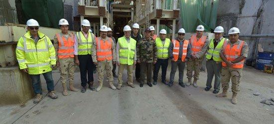 اللواء كامل الوزير يتفقد مشروع أنفاق قناة السويس