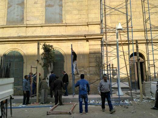 الآثار: بدء أعمال ترميم مبنى الجمعية الجغرافية بالتعاون مع التعليم العالي