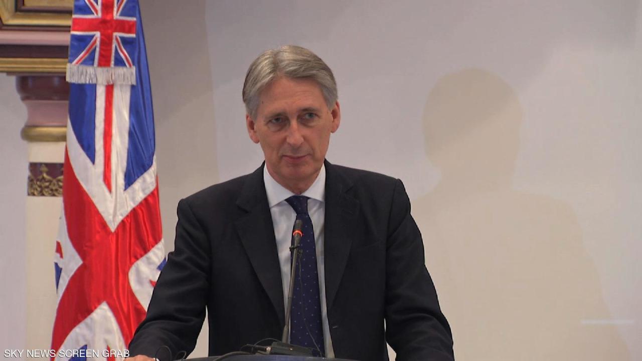وزير الخزانة البريطاني: بريكست بدون اتفاق يضع بلادنا تحت رحمة فرنسا