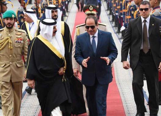 القمة المصرية-البحرينية تحظى باهتمام إعلامي