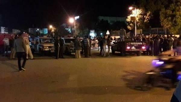 صور  | استشهاد ضابط شرطة وإصابة 4 بانفجار عبوة ناسفة بالأوتوستراد