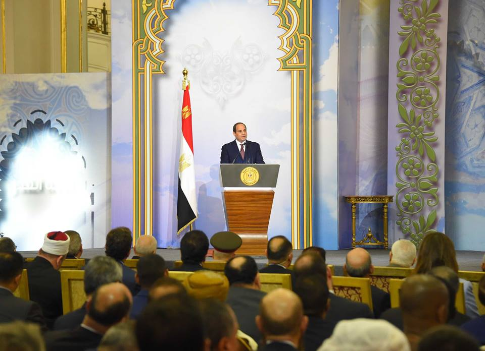 صور | تفاصيل مشاركة الرئيس السيسي في احتفالية وزارة الأوقاف بليلة القدر