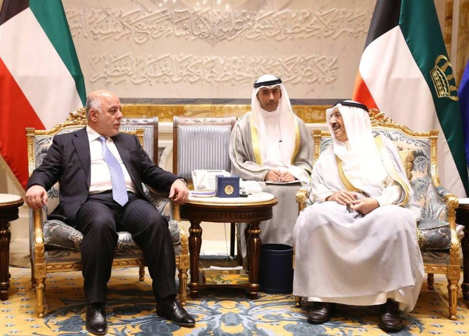 رئيس الوزراء الكويتي يبحث مع نظيره العراقي العلاقات الثنائية
