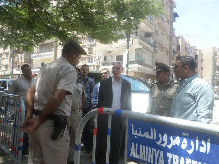 مدير أمن المنيا يتفقد المواقع الشرطية للوقوف على التواجد الميدانى