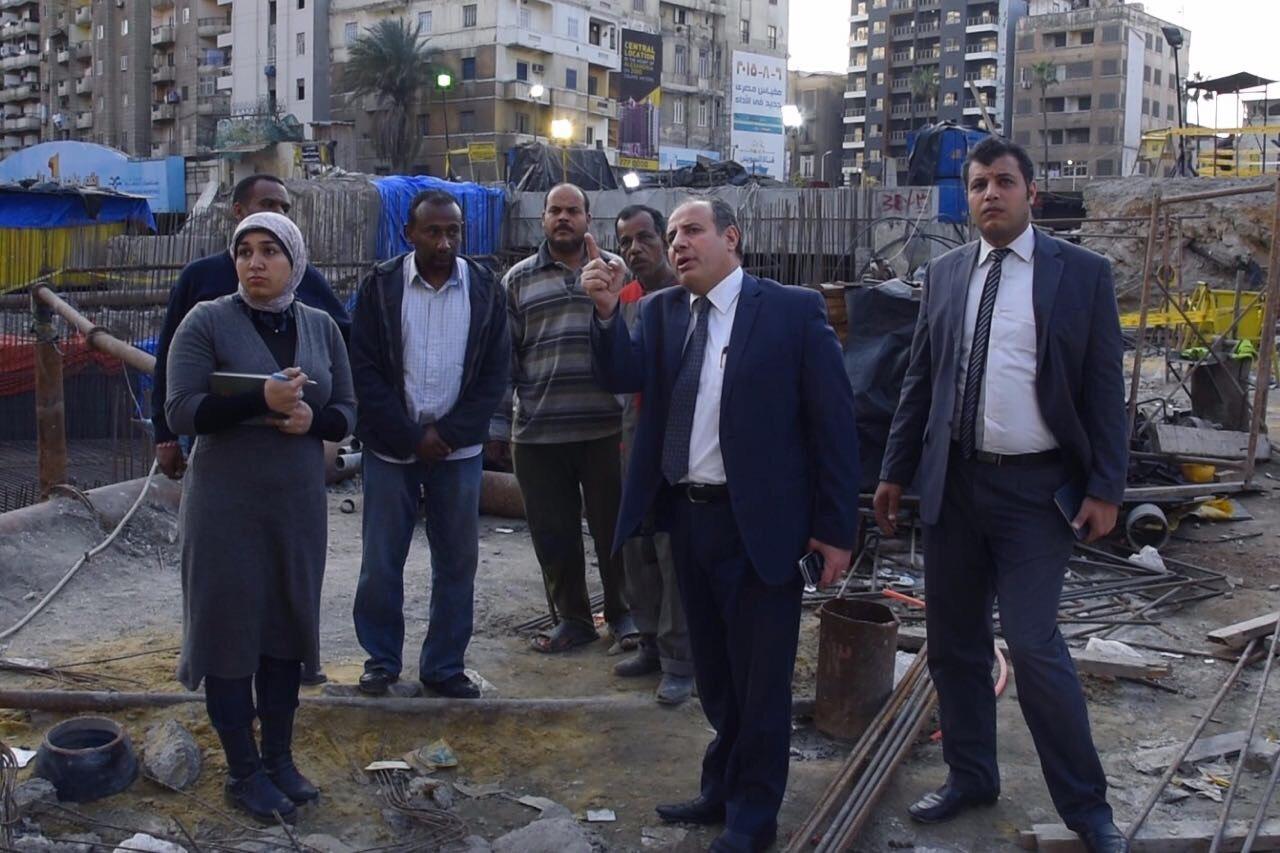 محافظ الإسكندرية يشدد على سرعة الانتهاء من مشروع تطوير نفق كليوباترا
