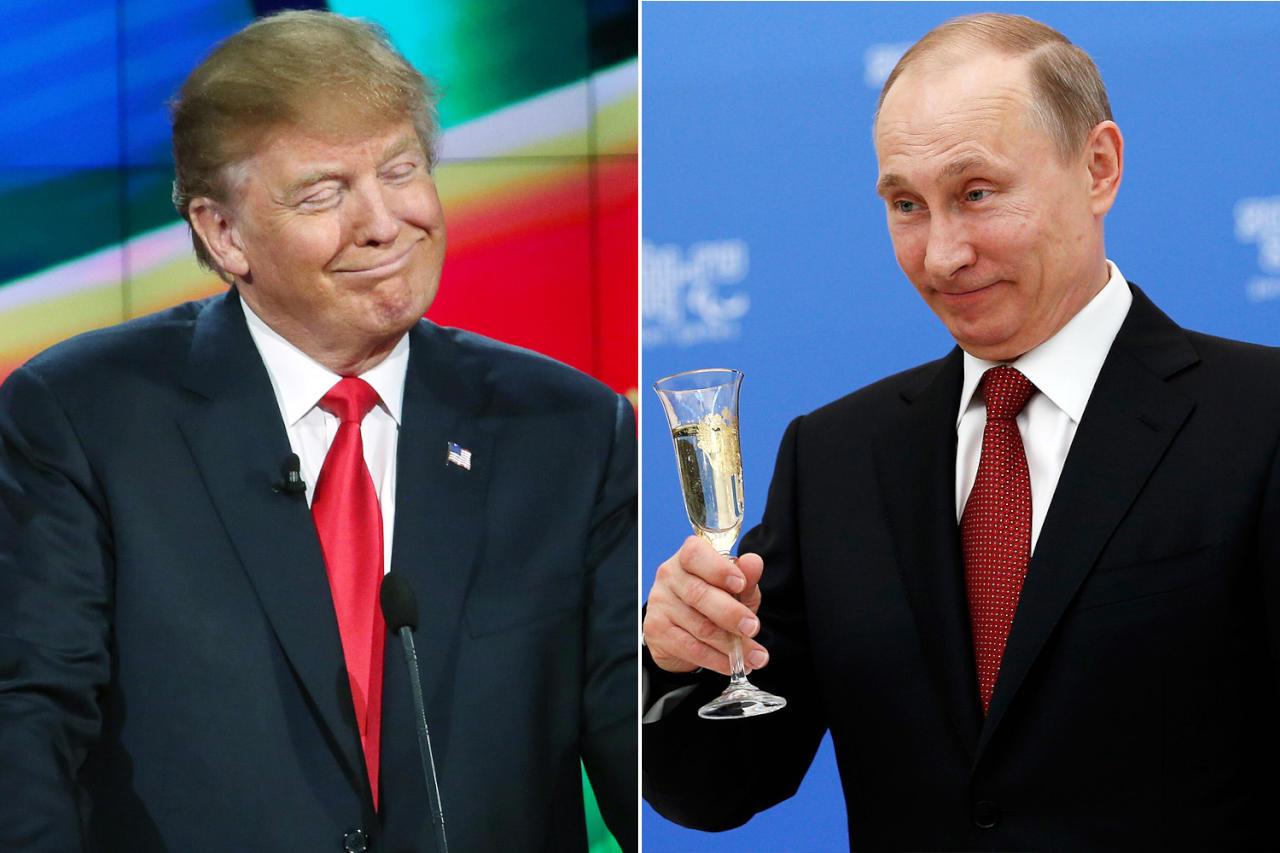 ترامب: بوتين كان يفضل فوز كلينتون بالرئاسة