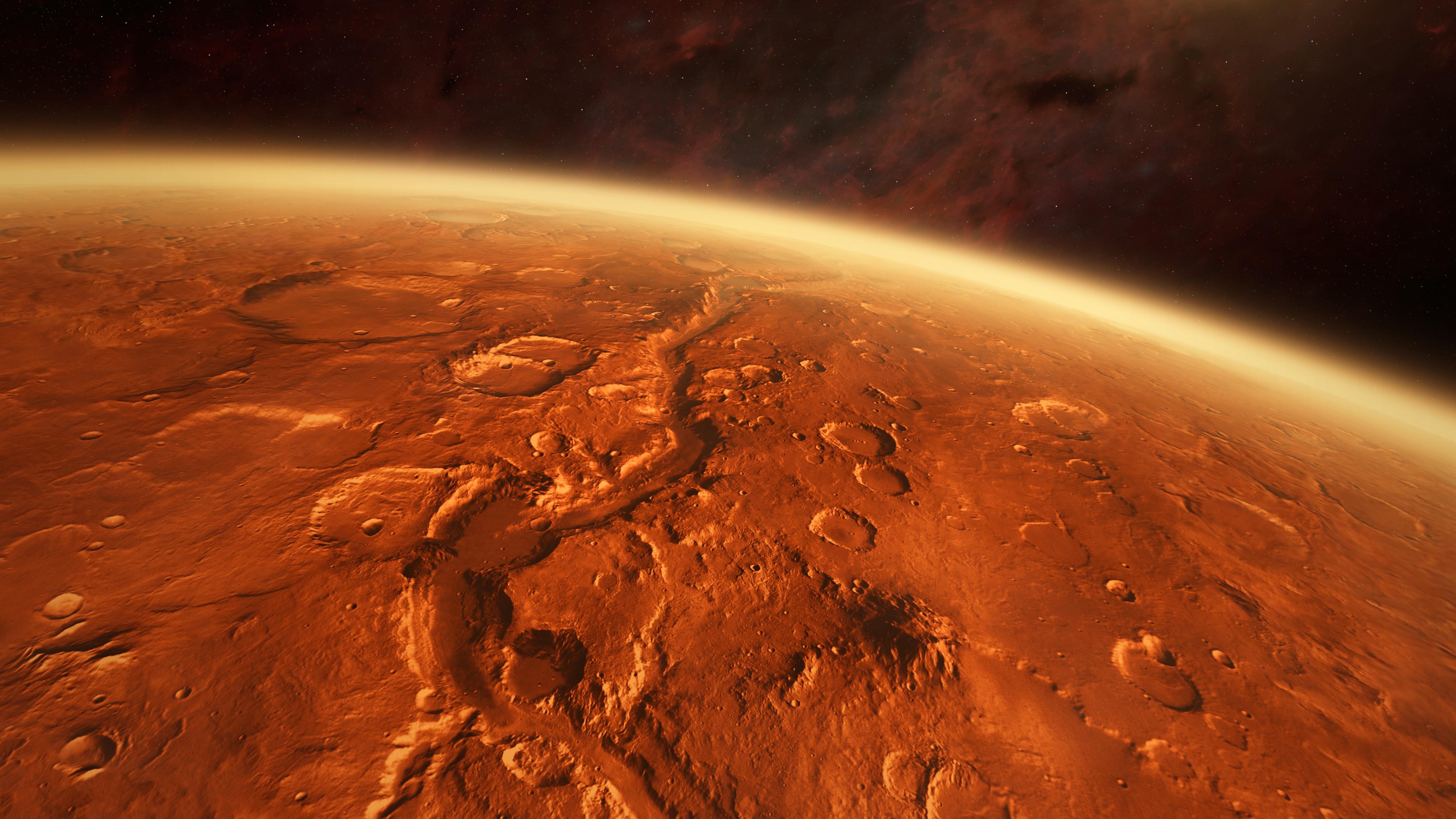 انهيار جليدي هائل على سطح المريخ بسبب ارتفاع درجات الحرارة