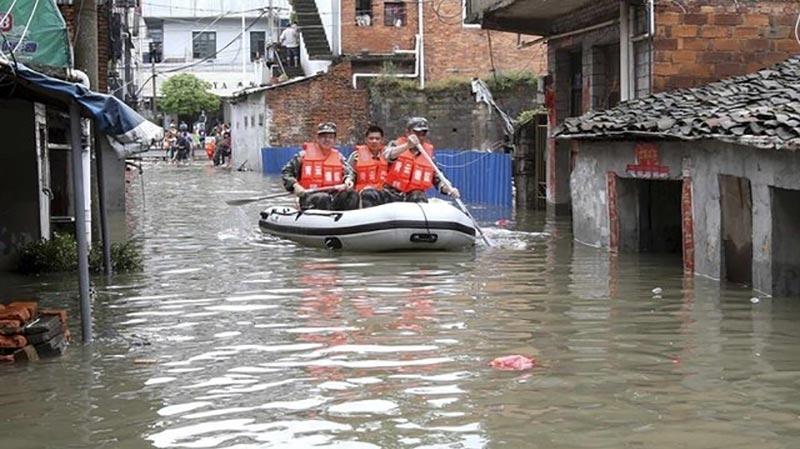تدمير 8 آلاف منزل وتضرر 17 ألف شخص بسبب فيضان جنوبي غرب الصين