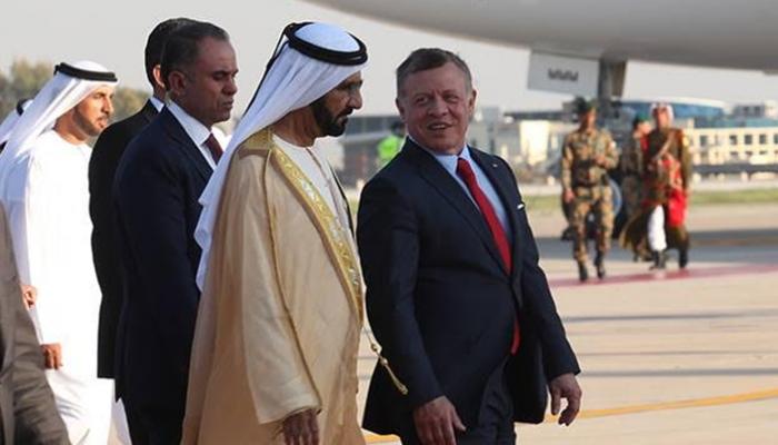 رسالة خطية من ملك الأردن إلى الشيخ محمد بن راشد