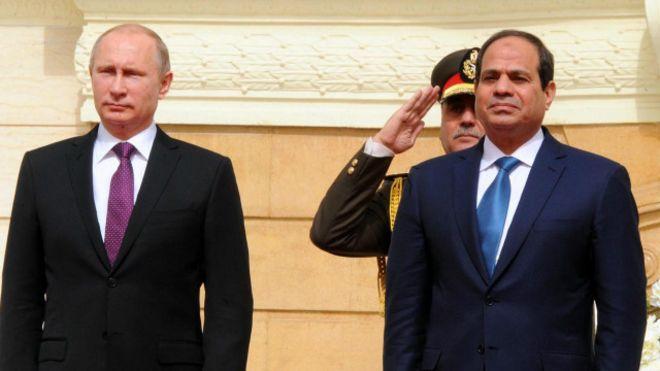 بوتين يبدأ زيارة رسمية لمصر..الإثنين المقبل
