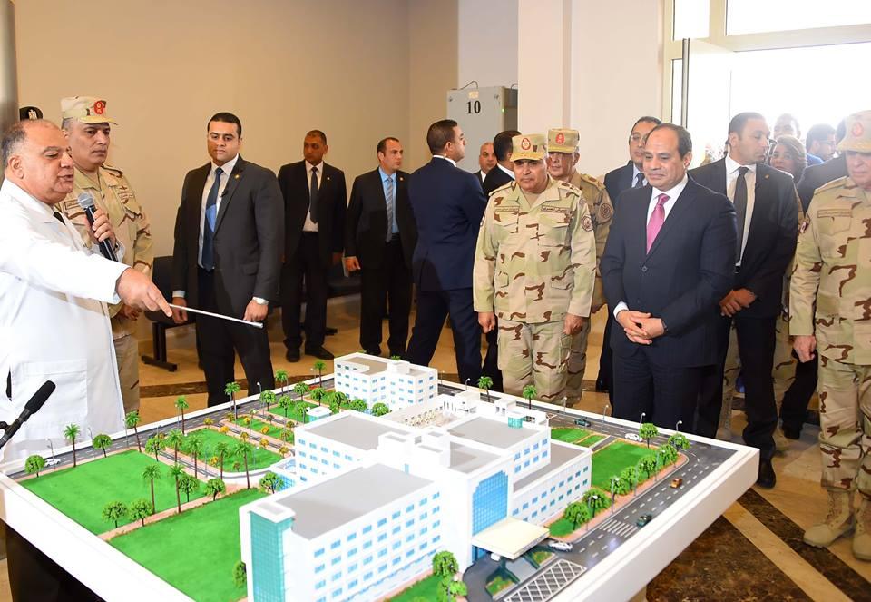 صور | الرئيس السيسي يفتتح  أعمال تطوير المجمع الطبي للقوات المسلحة بالمعادي