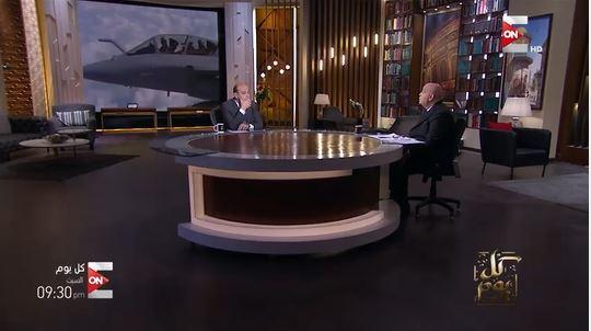 """عماد الدين الديب ضيف عمرو أديب الليلة فى برنامج """"كل يوم"""""""