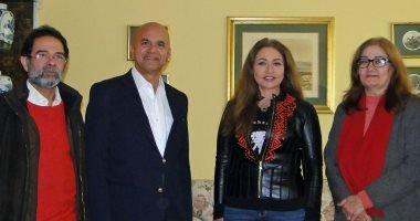"""ليلى علوى تستقبل وفدًا من إدارة مهرجان """"شرم الشيخ السينمائي"""""""