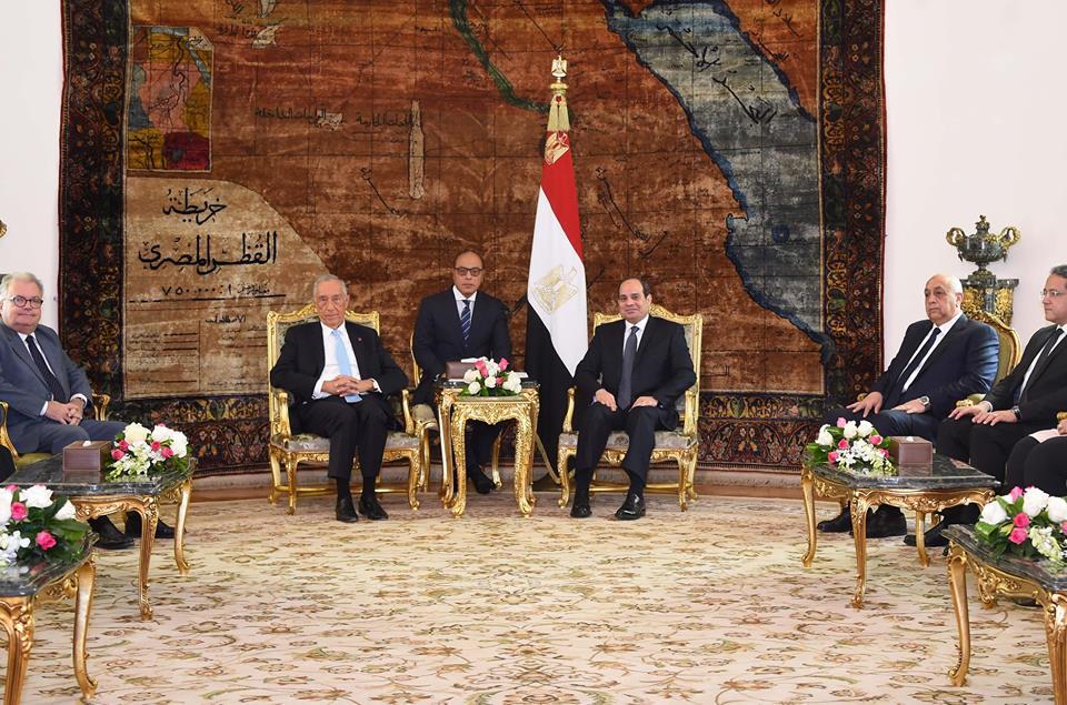 نشاط السيسي بأسبوع : عقد جلسات مباحثات مع ولي عهد أبو ظبي واستقبل نظيرة البرتغالي