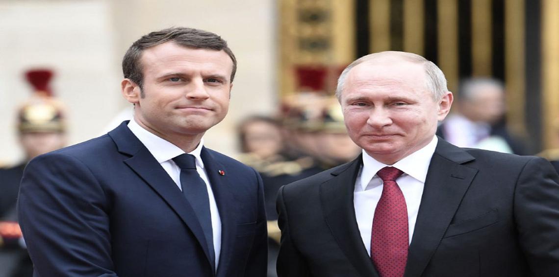 بوتين و ماكرون يناقشان تقديم مساعدات إنسانية لسوريا