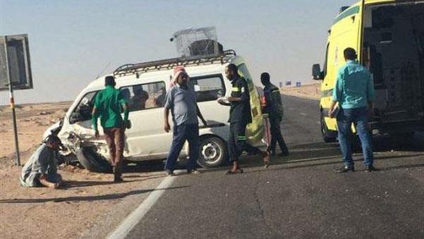 الصحة: 37 مصاباً فى حادث اصطدام أتوبيس بطريق سفاجا – قنا