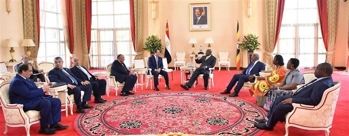 نص كلمة السيسي خلال المؤتمر المشترك مع نظيره الأوغندي