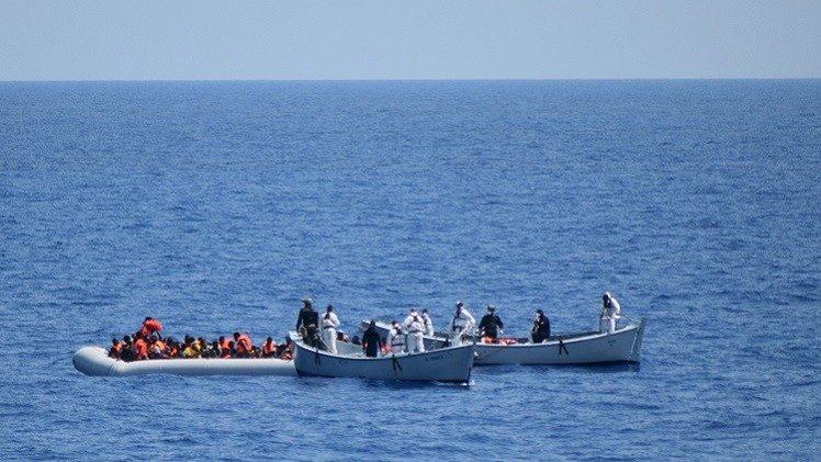 البحرية الليبية : إنقاذ 116 مهاجرا غير شرعي شمال غرب طرابلس
