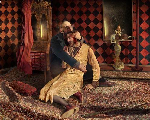 مخمور يدمر لوحة فنية روسية شهيرة بمعرض تريتياكوف