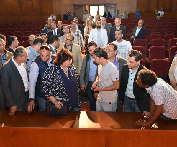 وزير الثقافة تتفقد المركز الثقافي بطنطا وتعلن الافتتاح في 30 يونيه