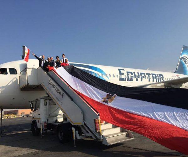 شركة مصر للطيران تشارك في فاعليات معرض فارنبورو الجوي