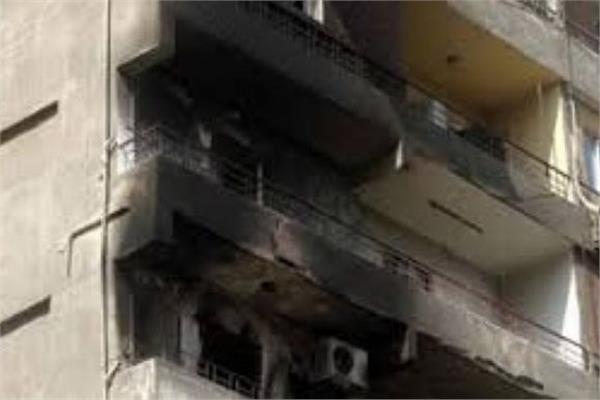 إصابة مواطن في حريق بعقار سكني في الهرم