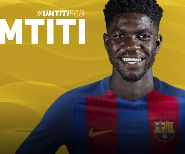 صامويل أومتيتي يمدد تعاقده مع برشلونة عامين