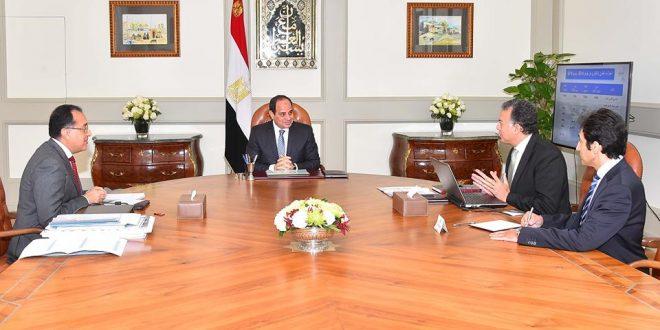 السيسي يجتمع بـ رئيس الوزراء و وزير النقل