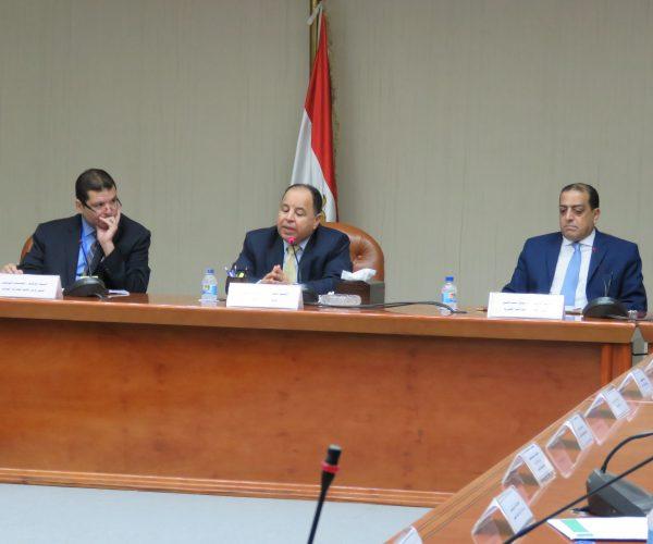 تفاصيل اجتماع وزير المالية برئيس و قيادات مصلحة الضرائب