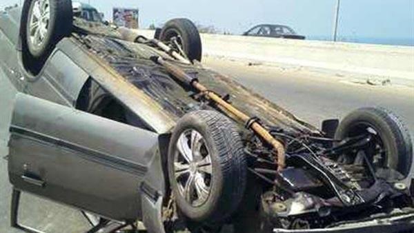 مصرع و إصابة 5 فى حادث سير بطريق رأس غارب الزعفرانة