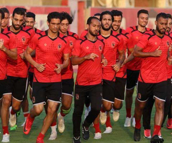 الأهلي يواصل استعداداته لمباراة العودة أمام حوريا الغيني