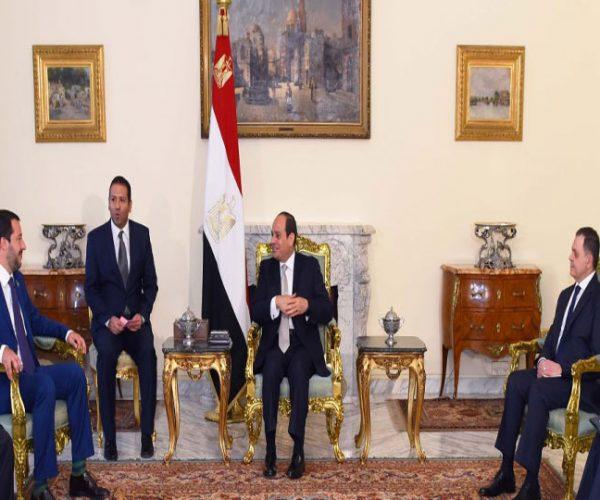 السيسي يبحث تعزيز العلاقات مع نائب رئيس الوزراء ووزير الداخلية الإيطاليين