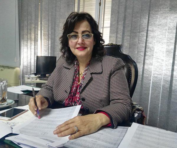 الدكتورة مني محرز وزيرة الزراعة والثروة الحيوانية