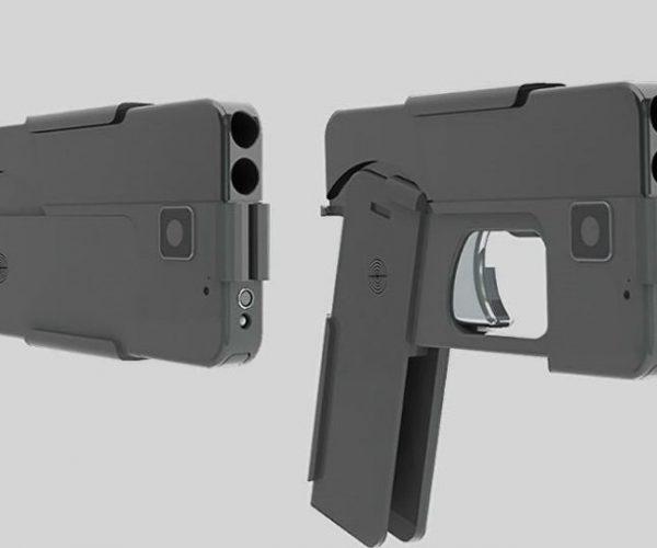 """""""آيديال كونسيل"""" تبتكر مسدس في هيئة هاتف محمول"""