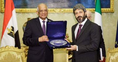 رئيس مجلس النواب الإيطالي يستقبل وفد مصر برئاسة على عبد العال
