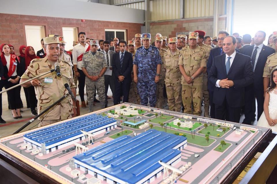 صور | تفاصيل افتتاح الرئيس عددا من المشروعات التنموية الصناعية ببنى سويف