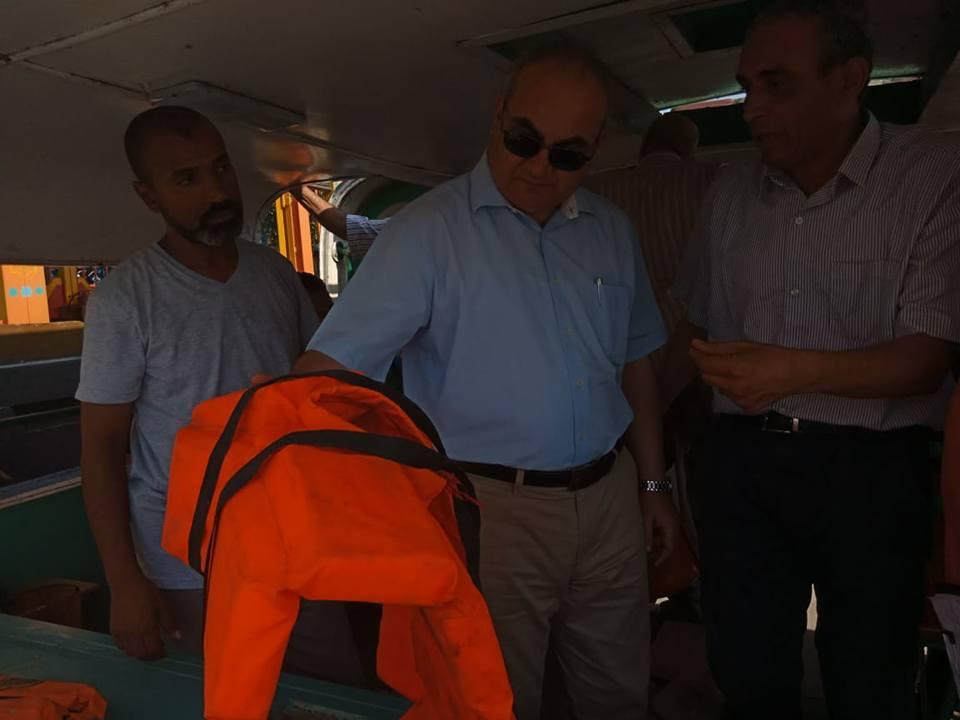 رئيس النقل النهري : استمرار التفتيش على المراكب النيلية بعد إجازة العيد