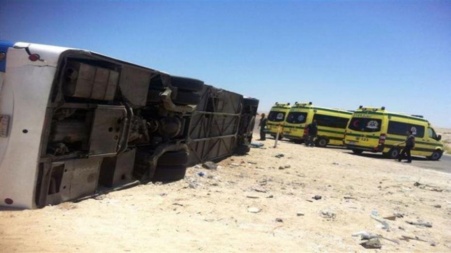 وزارة الصحة تعلن إصابة 27 شخصا فى انقلاب أتوبيس بالسويس