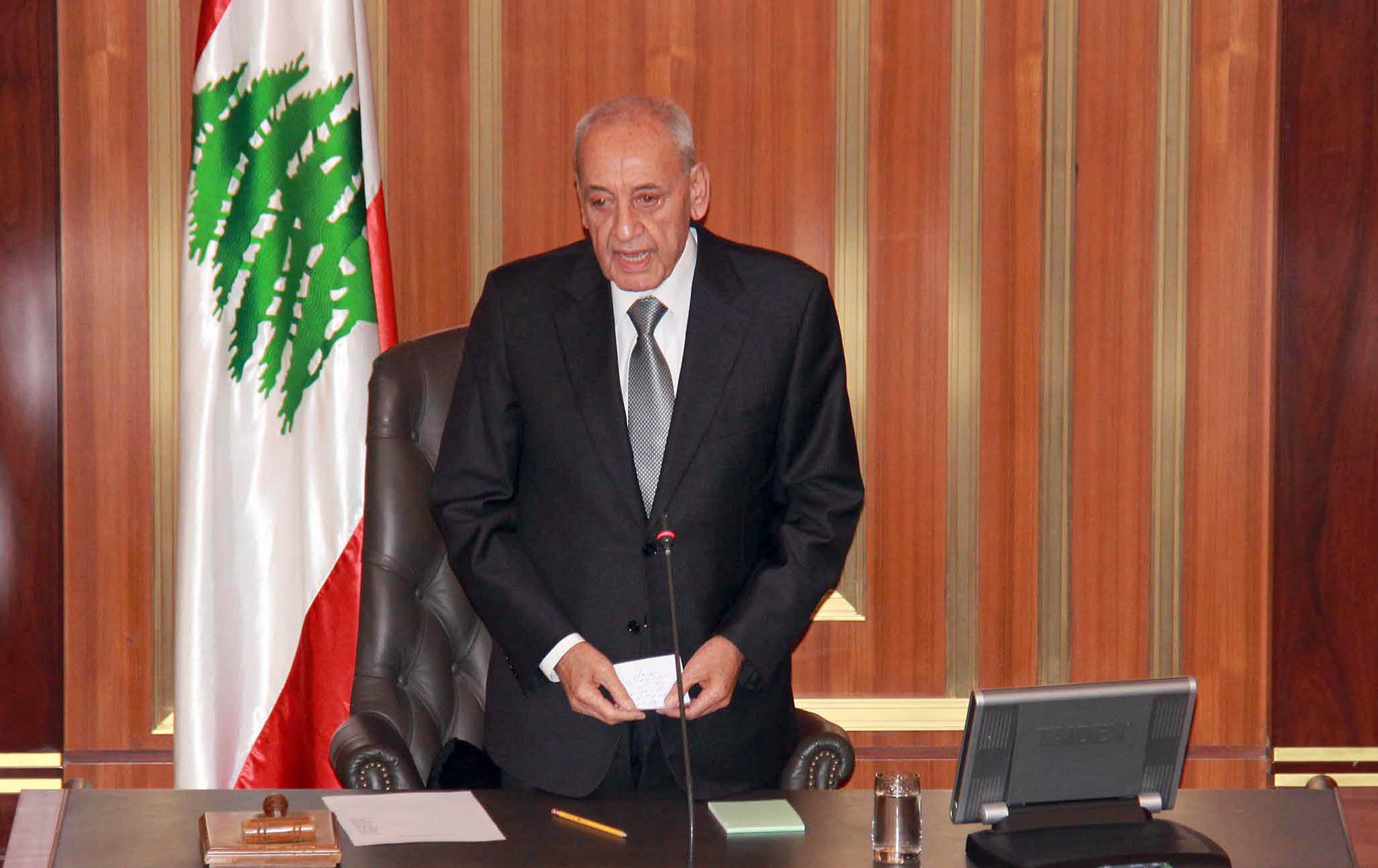 نبيه بري : حال عدم تشكيل الحكومة اللبنانية اليوم سأوجه الدعوة لعقد جلسة تشريعية