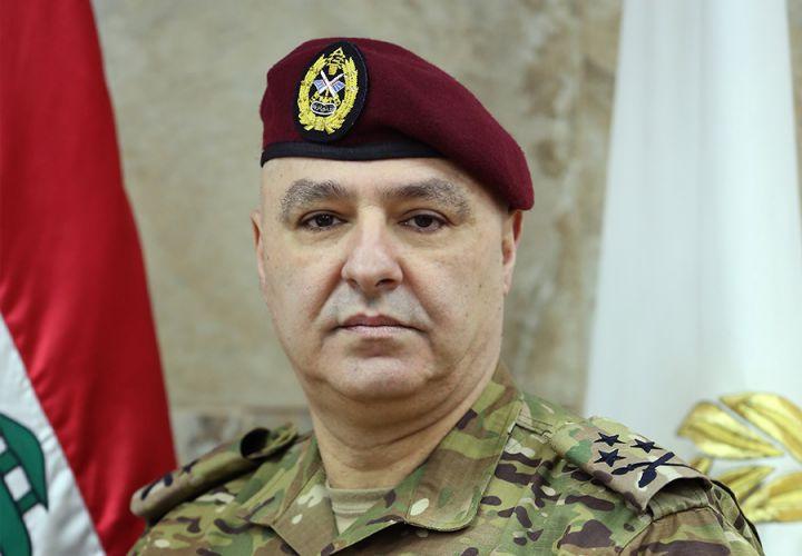 قائد الجيش اللبناني يؤكد أهمية التنسيق العسكري – الأمني لحفظ أمن البلاد