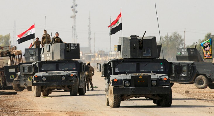 الشرطة العراقية تعتقل إرهابيا فى مدخل تكريت