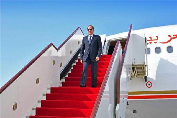 الرئيس السيسي يصل بكين في زيارة رسمية بدعوة من نظيره الصيني