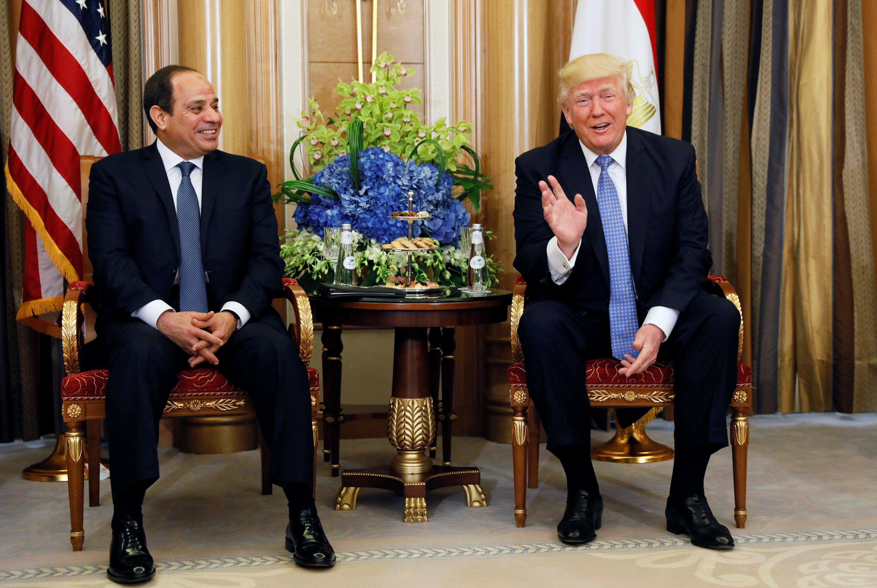 انطلاق المباحثات بين الرئيس السيسي ونظيره الأمريكي في نيويورك