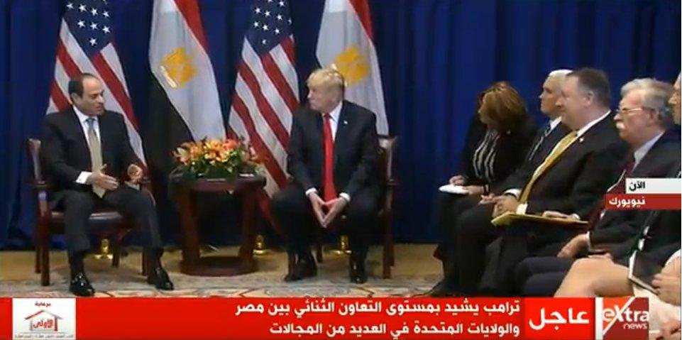 الرئيس السيسي : لديناإرادة قويةلتعزيز الشراكة الإستراتيجية مع أمريكا