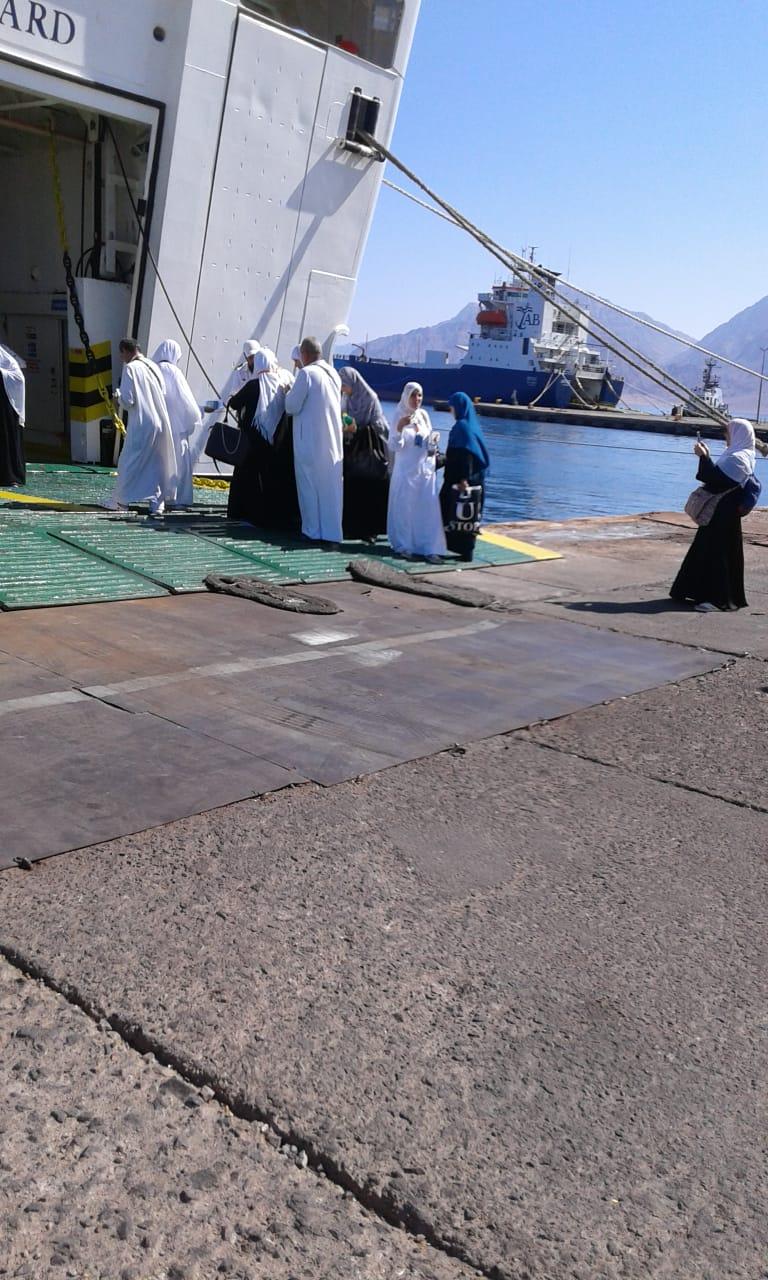 انتهاء موسم الحج البرى بميناء نويبع بنجاح