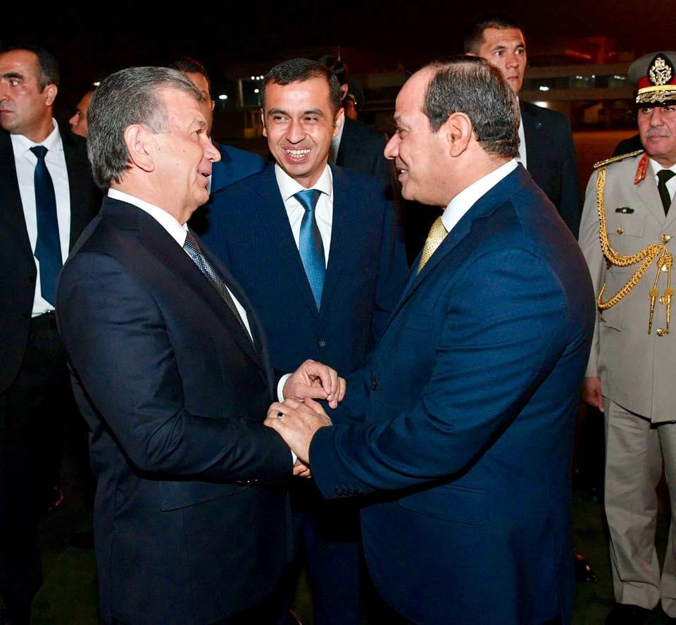 انطلاق أعمال القمة المصرية الأوزبكية بين الرئيسين السيسي وميرضيائيف