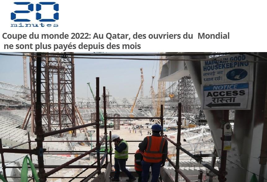 صحيفة فرنسية: قطر لم تسدد رواتب عمال مونديال 2022 لأشهر