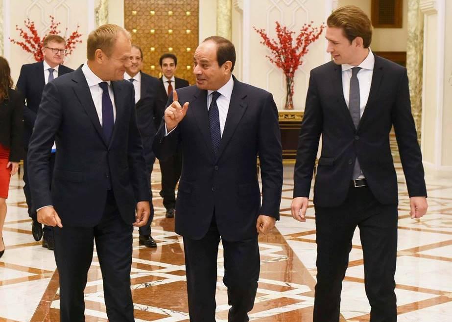 الرئيس السيسي : الاتحاد الأوروبى يتمتع بمكانههامة بإطار السياسة الخارجية لمصر