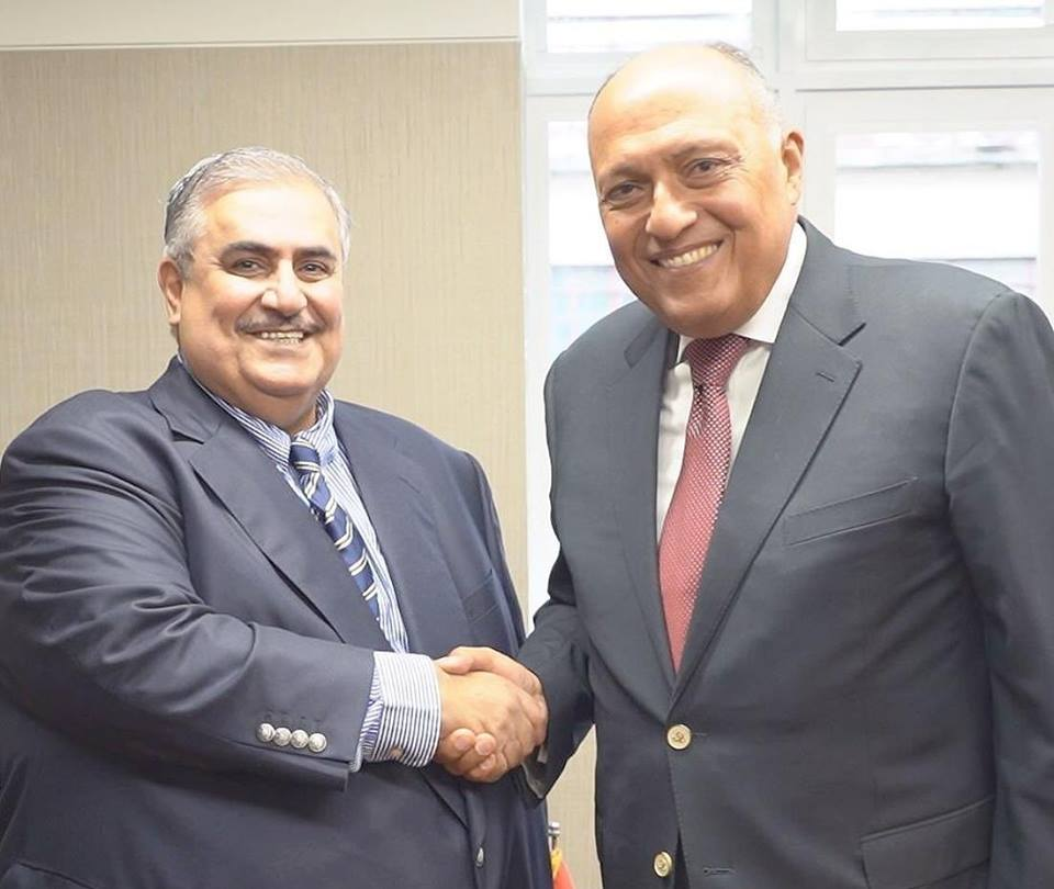 وزير الخارجية يلتقى نظيره البحرينى على هامش أعمال الجمعية العامة للأمم المتحدة